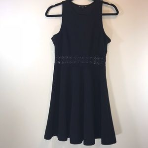 Iris Lace Waist Detail Fit & Flare Dress - #1086